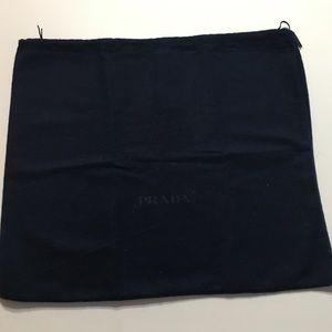 Prada Authentic Blue drawstring Dust Bag